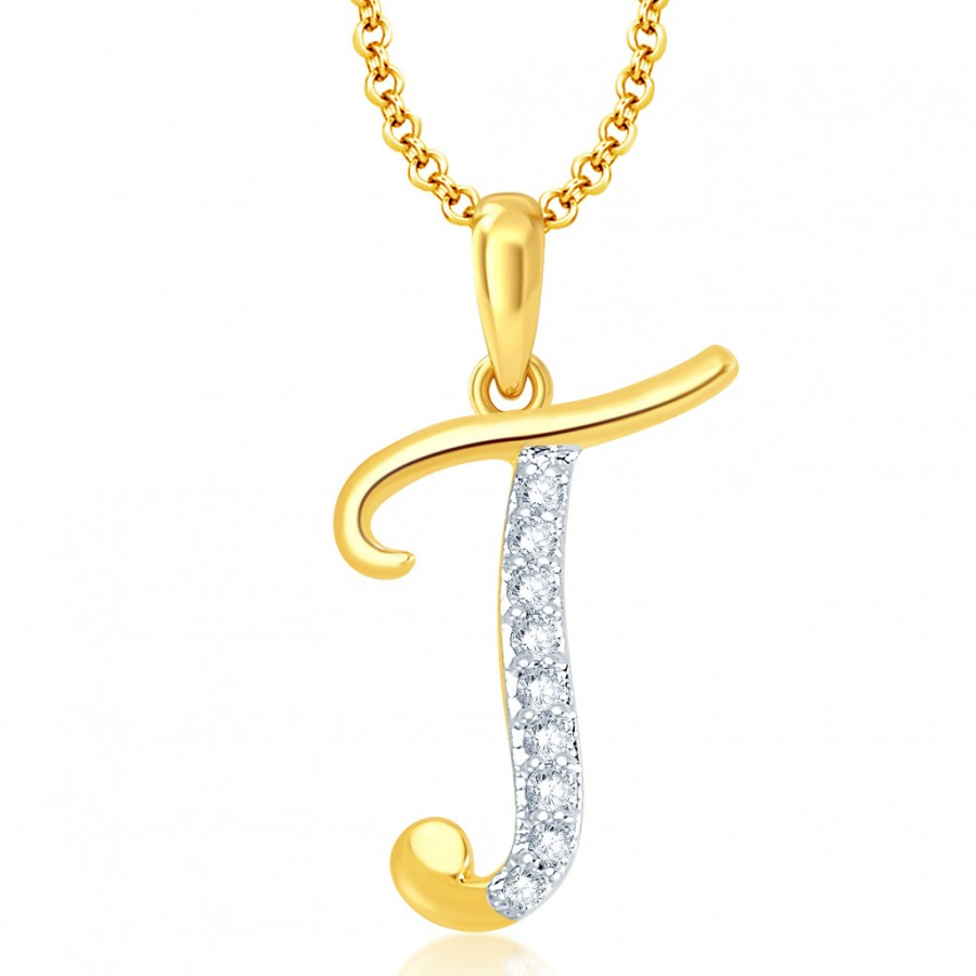 letter pendants buy pissara letter quot t quot gold and rhodium plated cz 23117