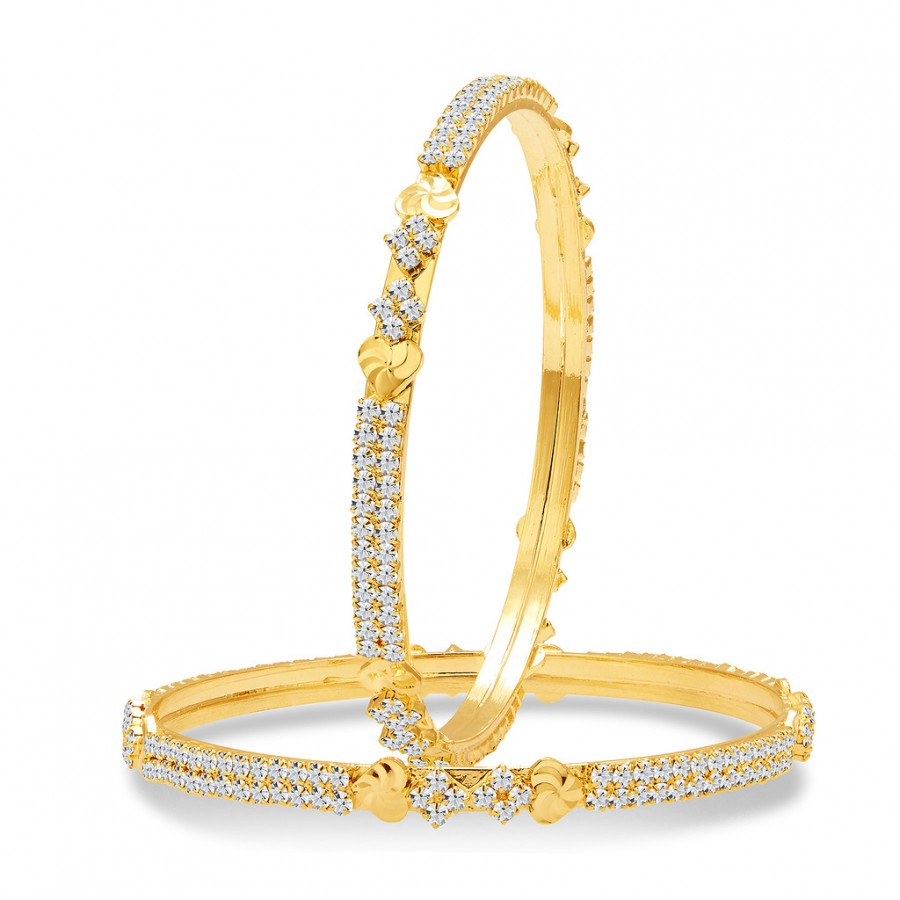 Buy Sukkhi Ritzy Gold Plated AD Bangle For Women Online