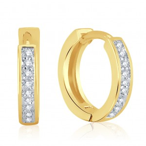 Buy Pissara Moddish Gold Plated Micro Pave Setting CZ Earrings Online