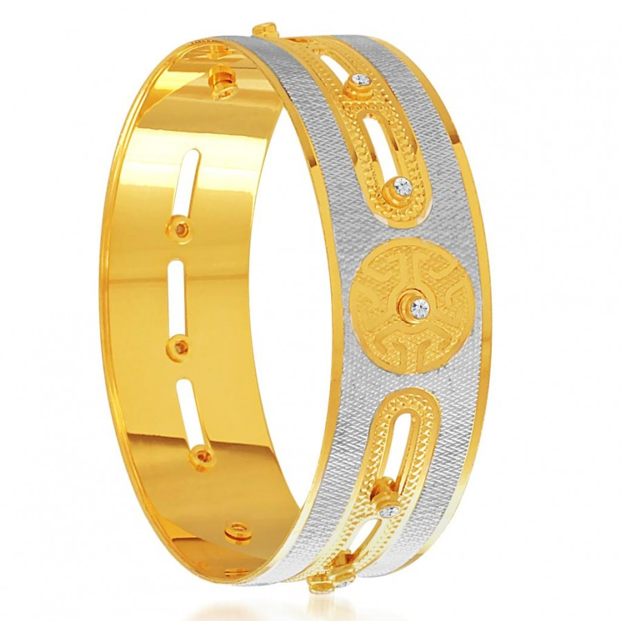 Buy Sukkhi Glistening Gold and Rhodium Plated Dancing Kada for Women Online