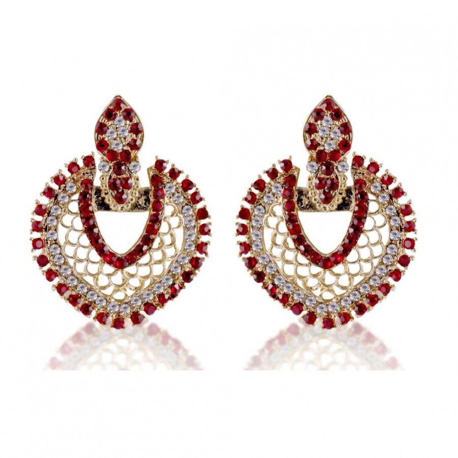 Buy Sukkhi Stylish Gold Plated AD Earring For Women Online