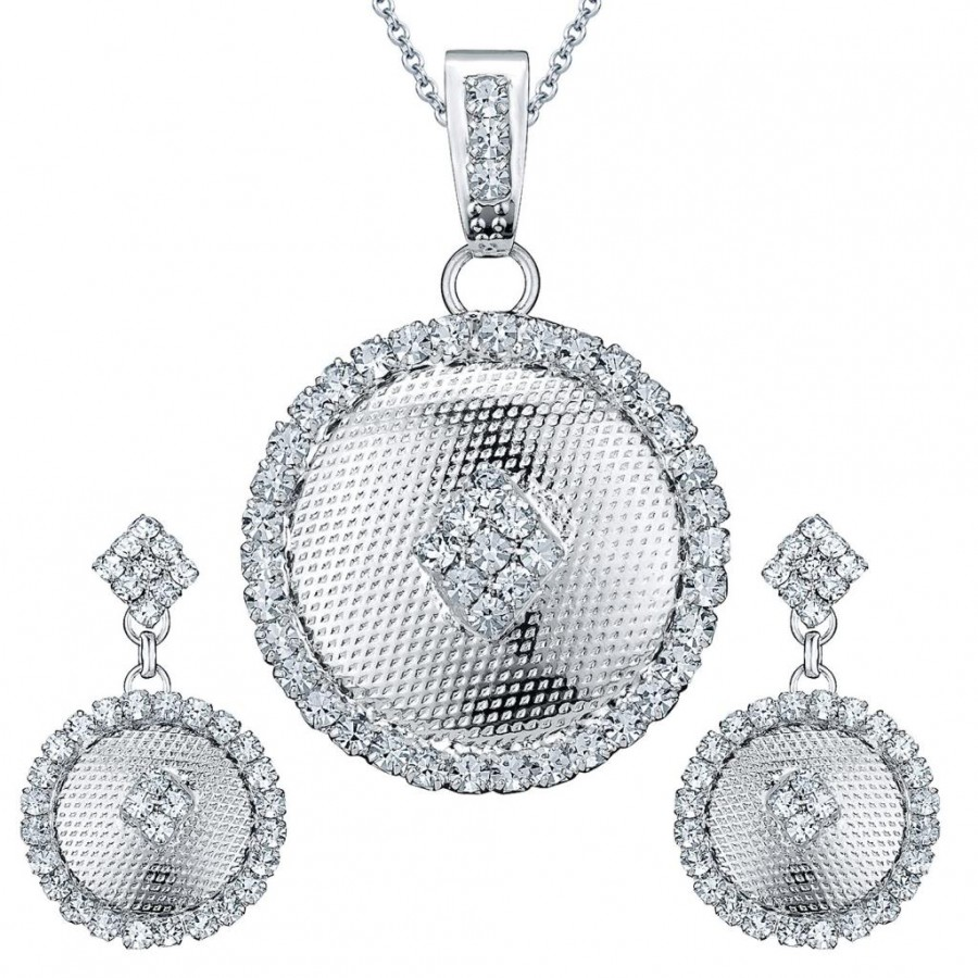 Buy Sukkhi Rhodium Plated AD Pendant Set - 1173VPS550 Online
