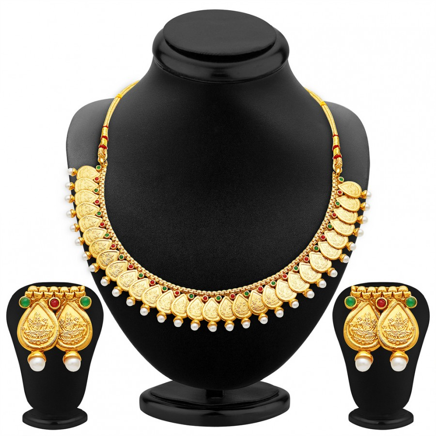 Buy Sukkhi Magnificent Gold Plated Temple Jewellery Necklace Set Online