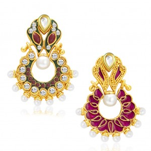 Buy Sukkhi Exotic Gold Plated Reversible Chandbali Earring For Women Online