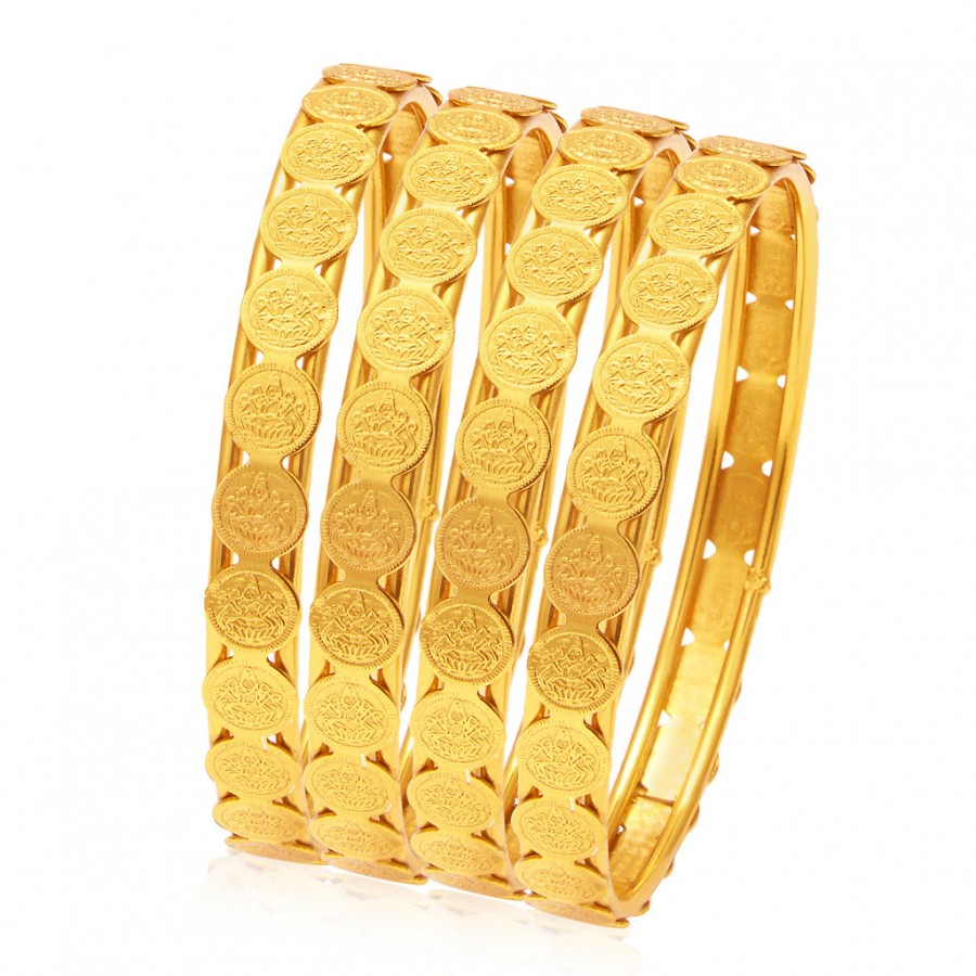 Buy Sukkhi Glamorous Temple Jewellery Gold Plated Coin Bangle For Women Online
