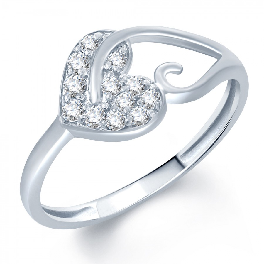 Buy Pissara Pleasing Rhodium Plated CZ Ring Online