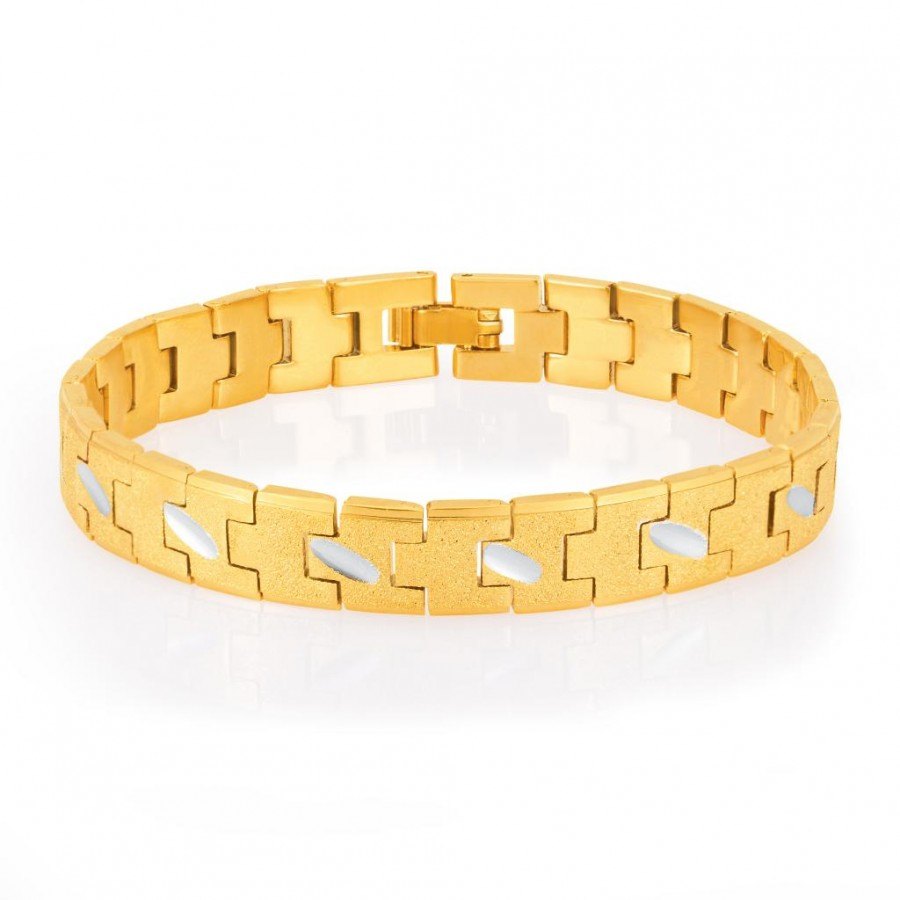 Buy Sukkhi Creative Gold and Rhodium Plated Bracelet For Men Online