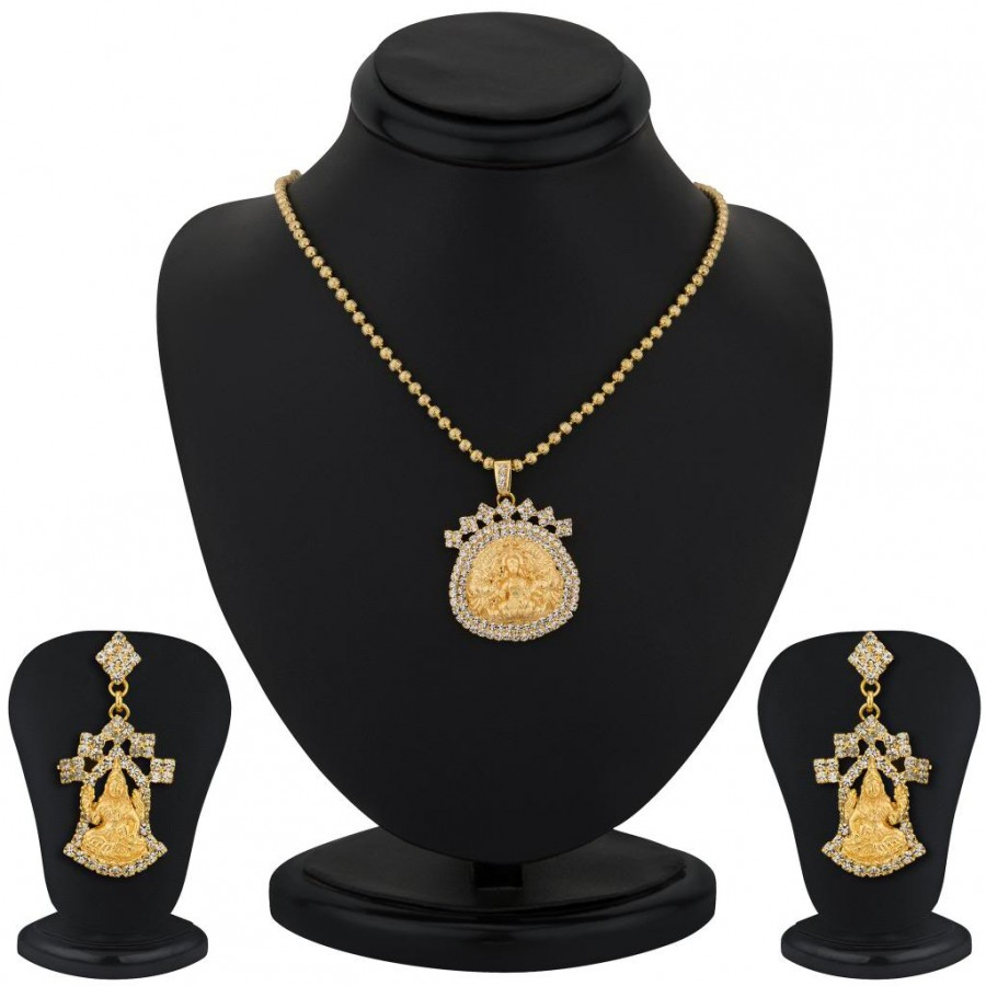Buy Sukkhi Gold Plated Lord Lakshmi Pendant Set - 1164VN1250 Online