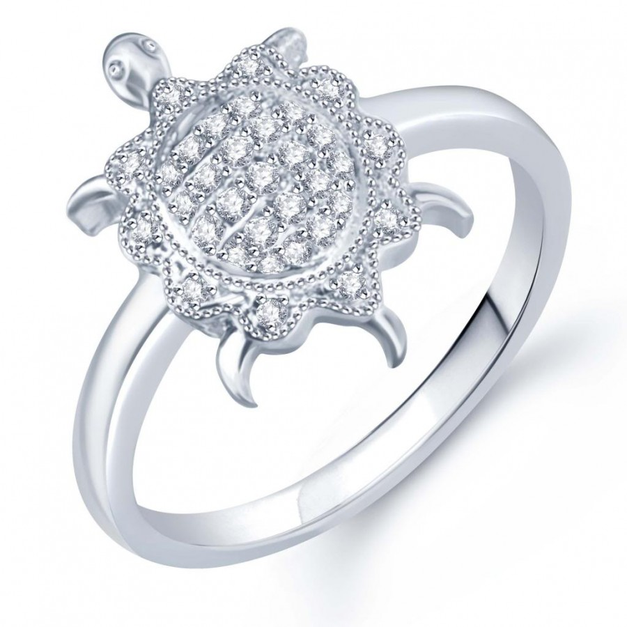 Buy Pissara Incredible Micro Pave Setting Rhodium Plated CZ Ring for Women(324R640) Online