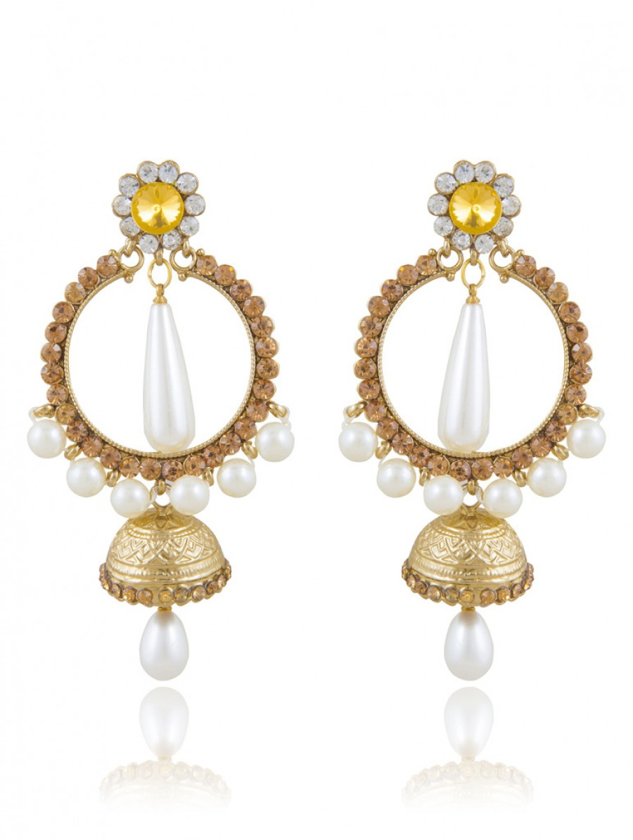 Buy Sukkhi Luxurious Gold Plated AD Earring For Women Online