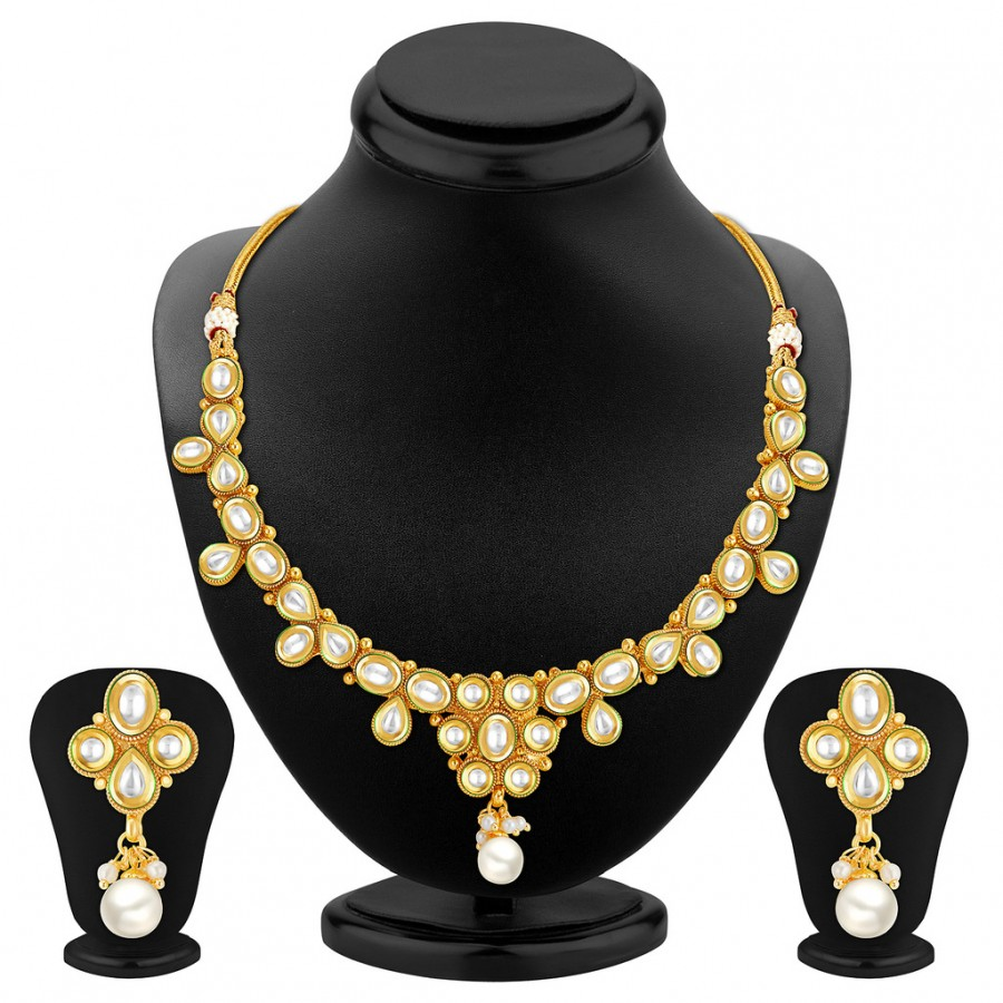 Buy Sukkhi Marvellous Gold Plated Kundan Necklace Set Online