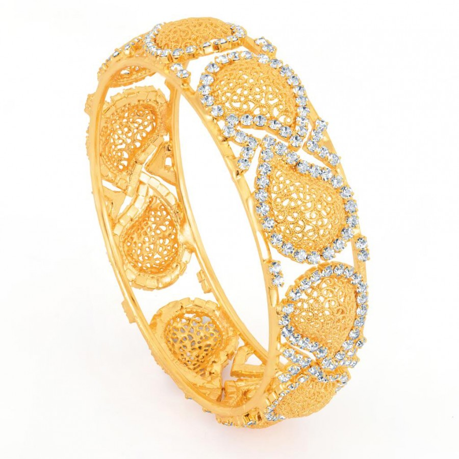 Buy Sukkhi Gold Plated Flexible AD kada - 1114VK1000 Online