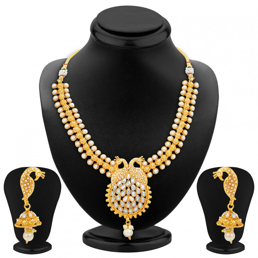 Buy Sukkhi Resplendent Gold Plated Necklace Set Online