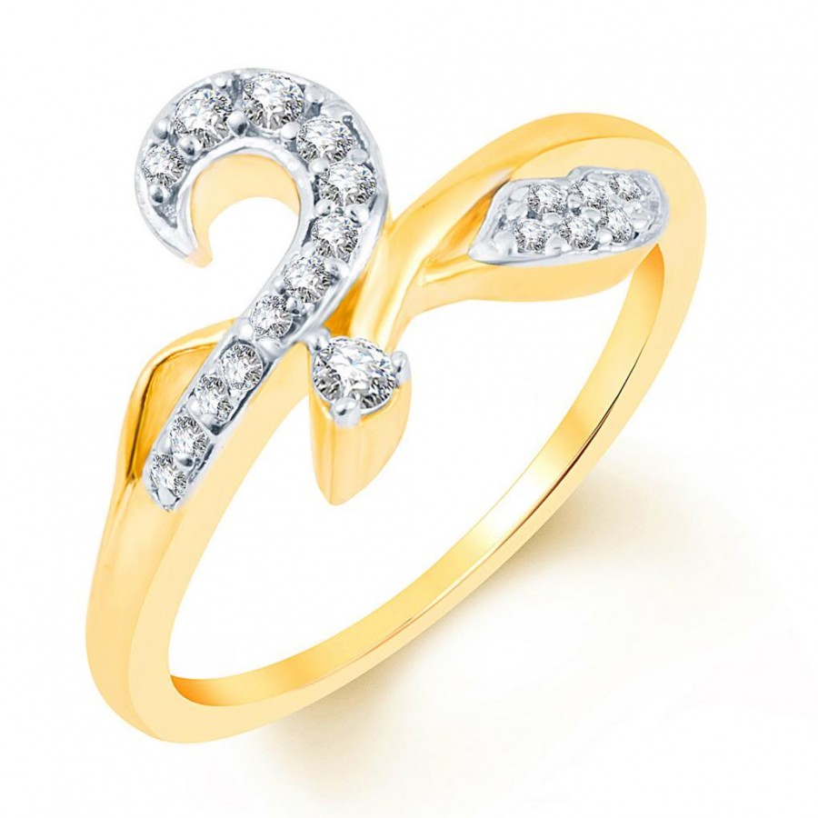 Buy Pissara Ritzzy Two Tone CZ Ring Online