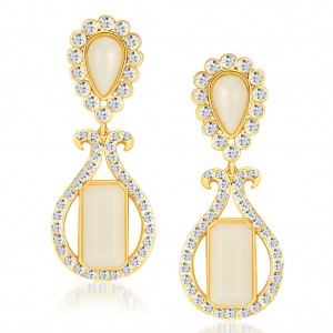 Buy Sukkhi Sparkling Gold Plated Australian Diamond Earrings Online