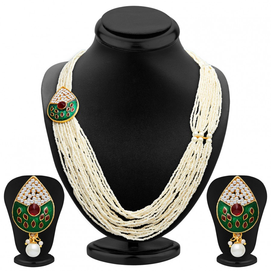 Buy Sukkhi Fancy Gold Plated Necklace Set Online
