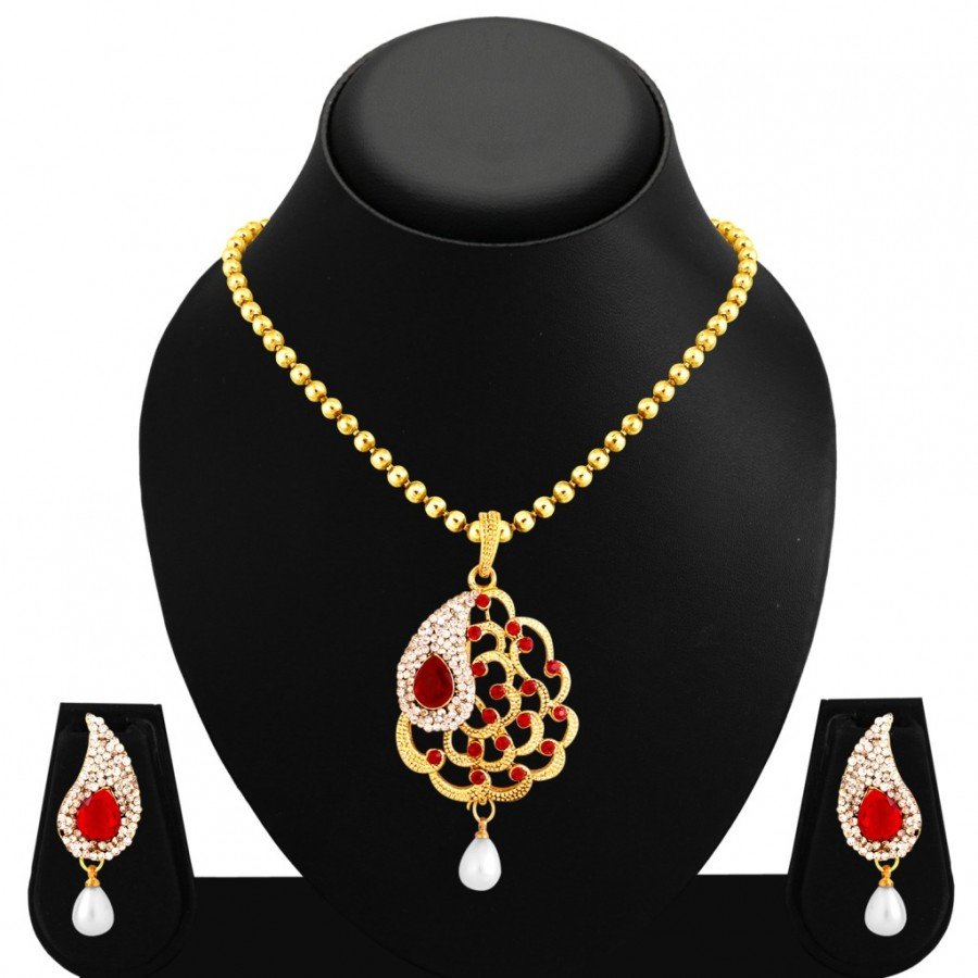 Buy Sukkhi Fascinating Gold Plated Pendant Set For Women Online