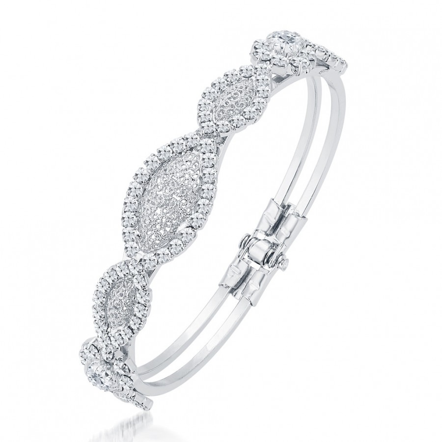 Buy Sukkhi Pleasing Rhodium Plated AD Kada For Women Online