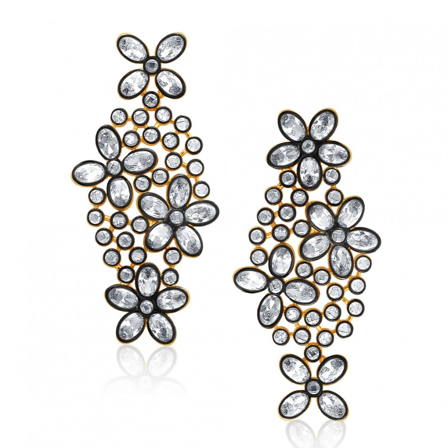 Buy Sukkhi Sparkling Gold Plated AD Earring For Women Online