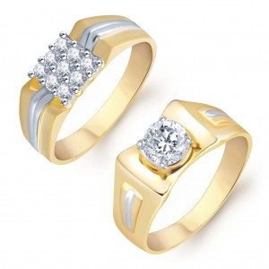 Buy Pissara Excellent 2 Piece Ring Combo for Men Online