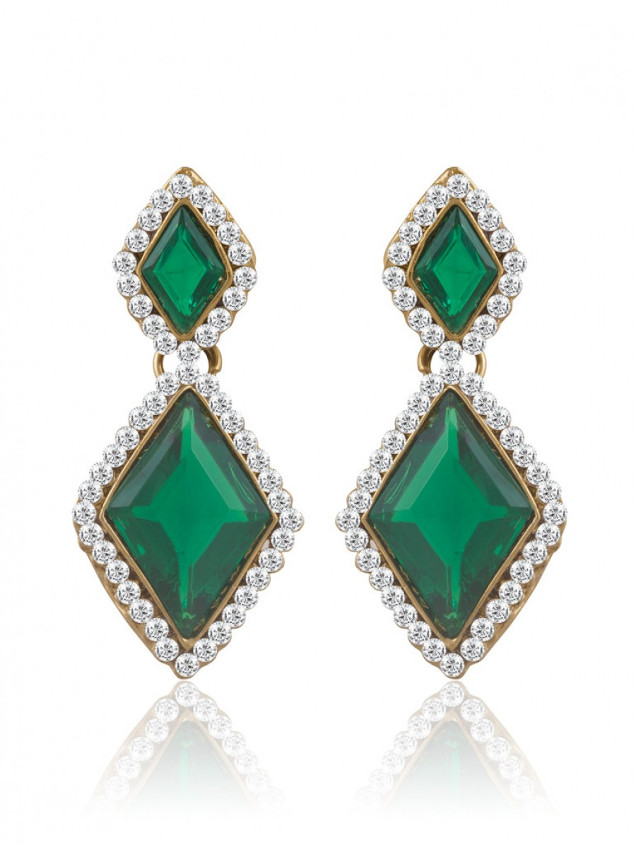 Buy Sukkhi Classic Gold Plated AD Earring For Women Online