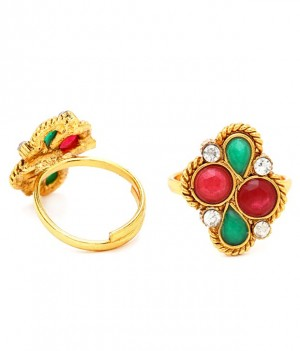 Buy Sukkhi Creative Gold Plated Australian Diamond Stone Studded Toering Online