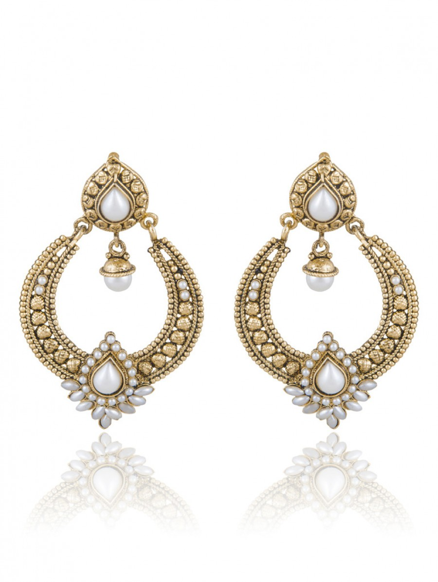 Buy Sukkhi Delightly Gold Plated Chandbali Earring For Women Online