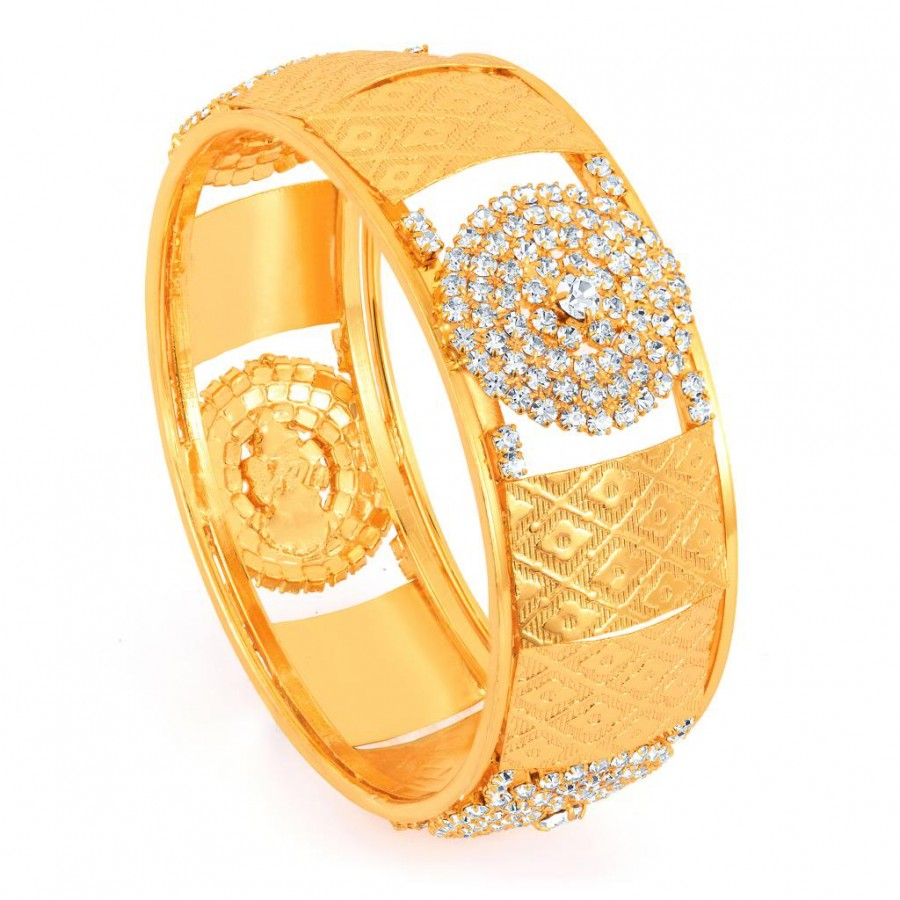 Buy Sukkhi Gold Plated AD Stone Kada - 1136VK1400 Online
