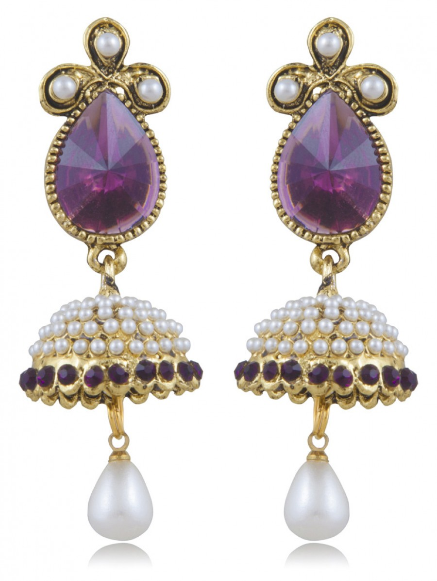 Buy Sukkhi Fabulous Gold Plated Jhumki Earring For Women Online