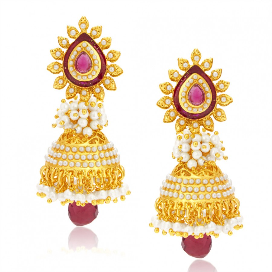 Buy Sukkhi Elegant Gold Plated Jhumki Earring For Women Online