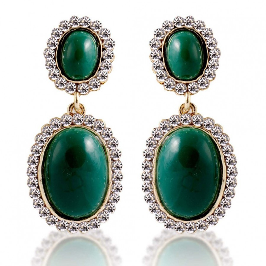 Buy Sukkhi Artistically Gold Plated AD Earring For Women Online