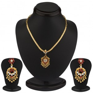 Buy Sukkhi Incredible Gold Plated AD Necklace Set Online