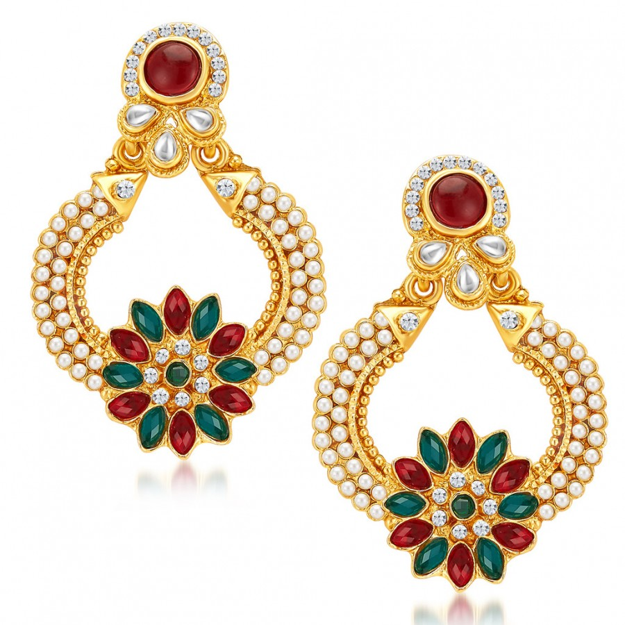 Buy Sukkhi Ritzy Gold Plated Earrings Online