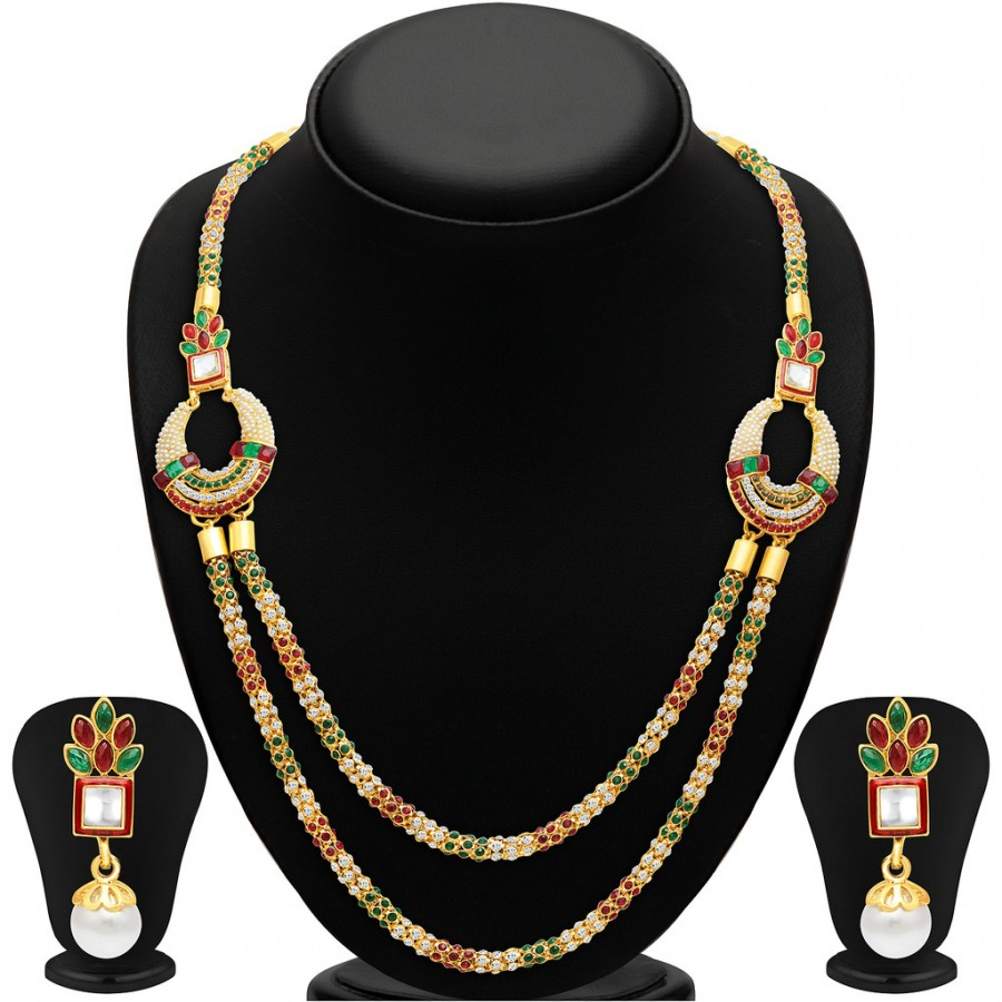 Buy Sukkhi Fine Two Strings Gold Plated Necklace Set Online