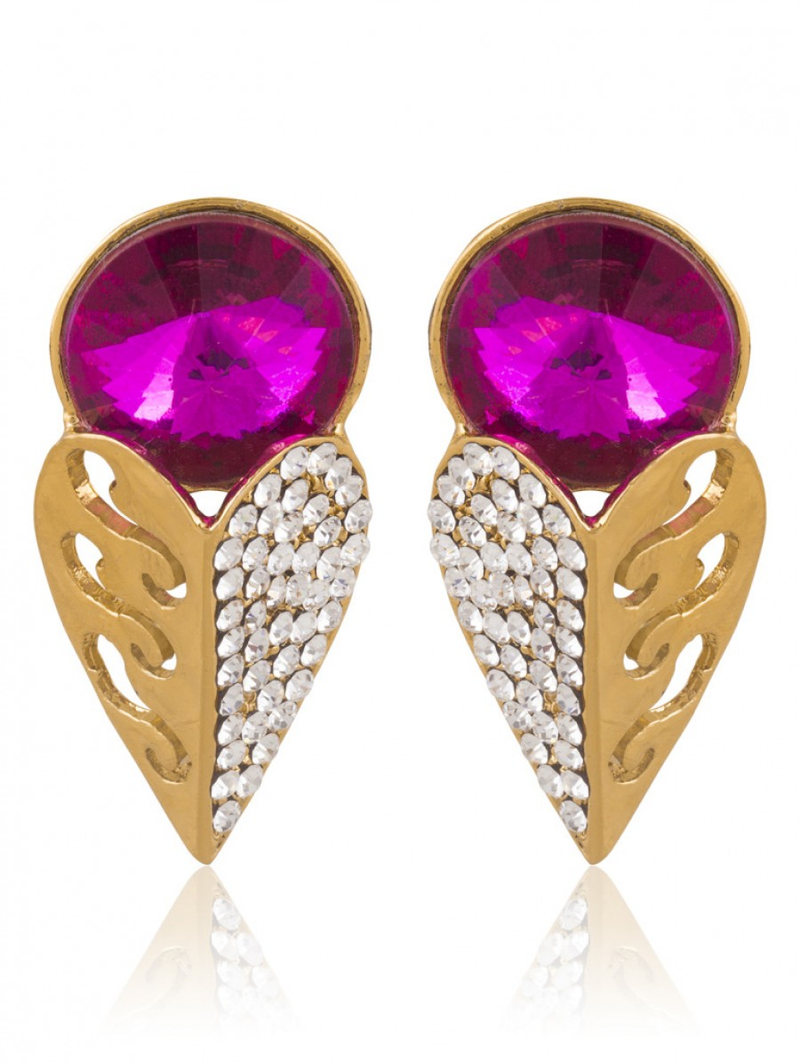 Buy Sukkhi Enchanting Gold Plated AD Earring For Women Online