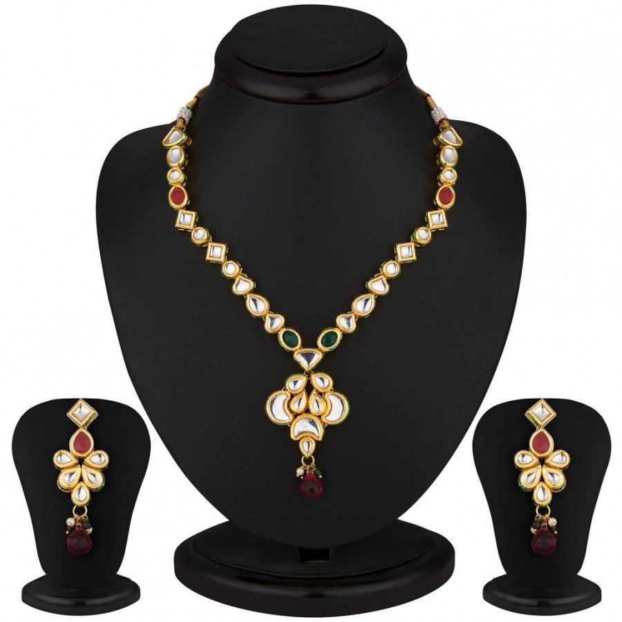 Buy Sukkhi Splendid Gold Plated CZ Necklace Set Online