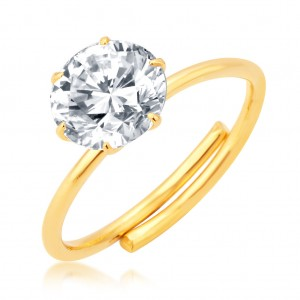Buy Pissara Ritzy Gold Plated CZ Ring For Women Online