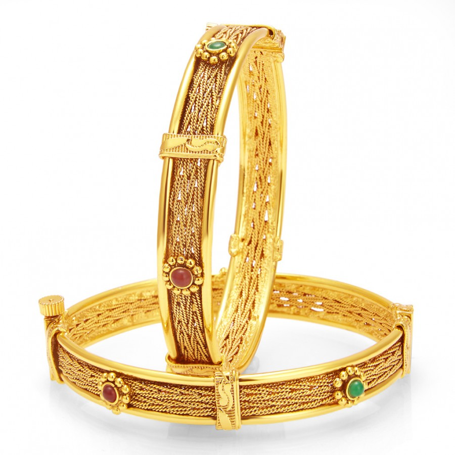 Buy Sukkhi Artistically Gold Plated Bangle For Women Online