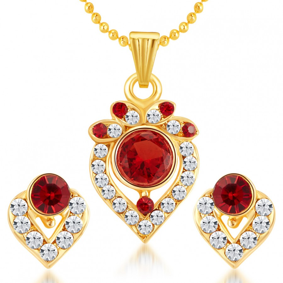 Buy Sukkhi Ritzy Gold Plated AD Pendant Set Online