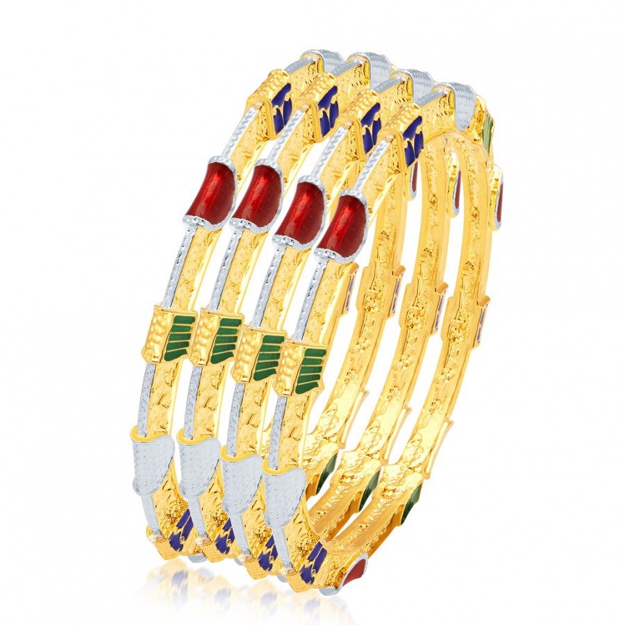 Buy Sukkhi Alluring Gold Plated Bangles Online