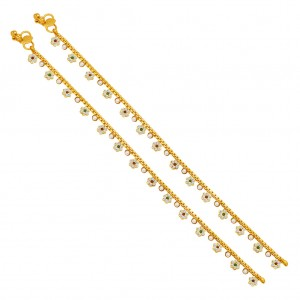 Buy Sukkhi Sublime Gold Plated AD Anklet For Women Online
