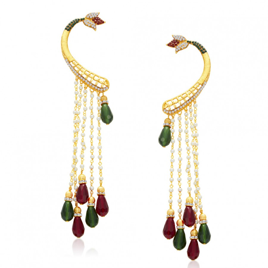 Buy Sukkhi Finely Gold Plated Pearl Earcuff For Women Online