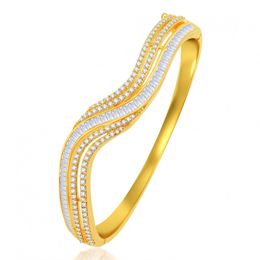 Buy Pissara Marquise Gold Plated CZ Kada Online