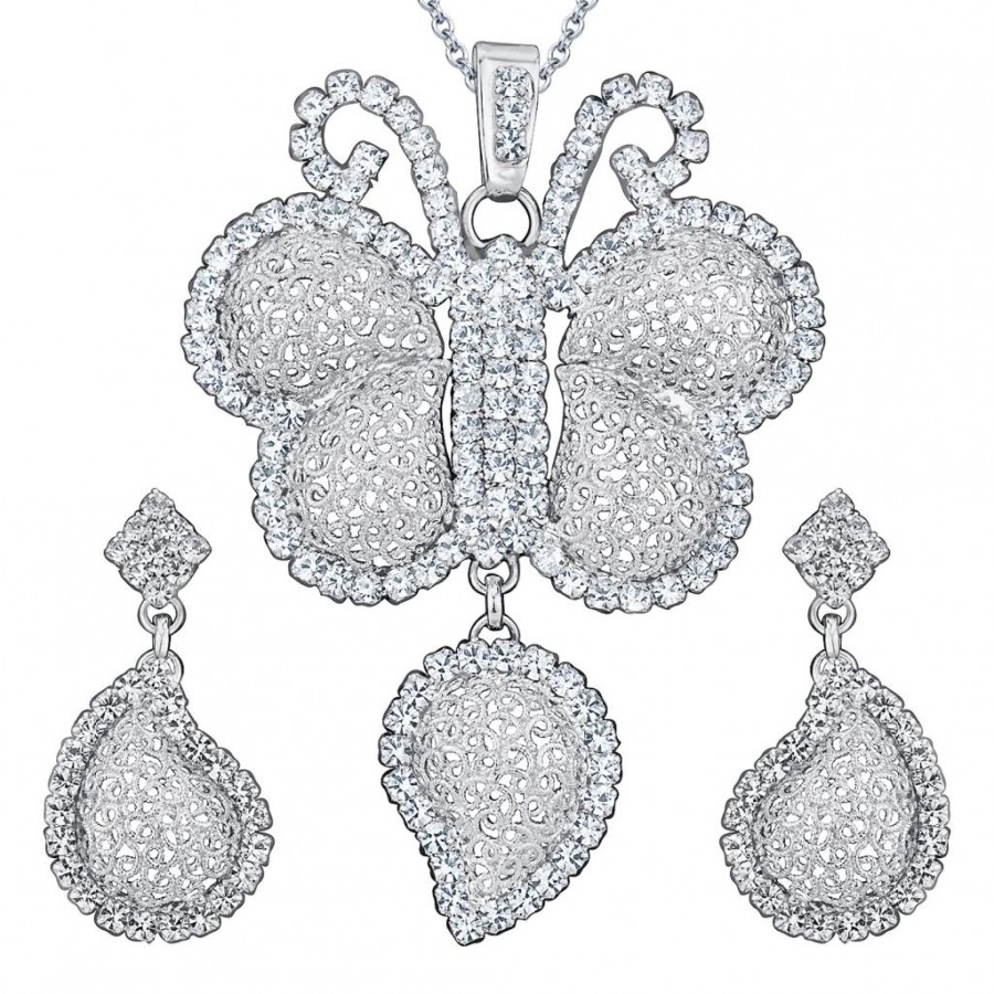 Buy Sukkhi Rhodium Plated AD Pendant Set - 1170VPS850 Online