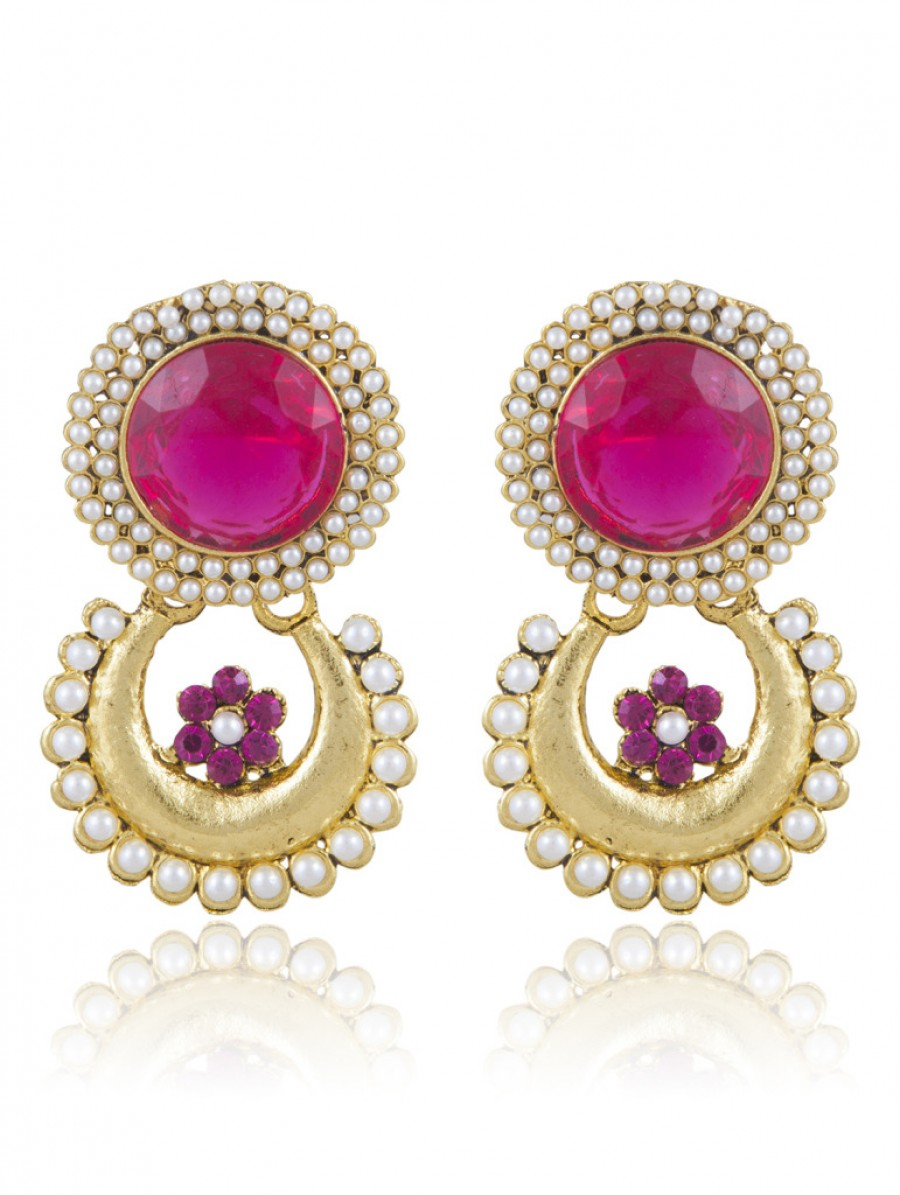 Buy Sukkhi Brilliant Gold Plated AD Earring For Women Online