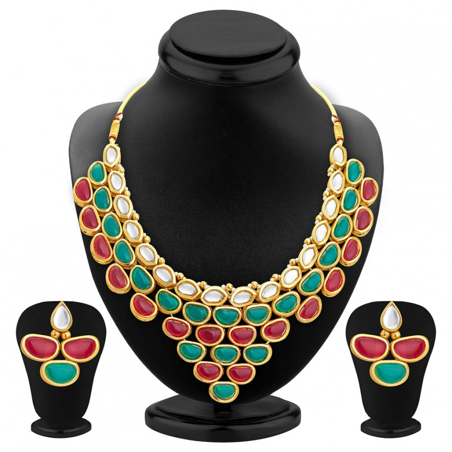 Buy Sukkhi Traditionally Gold Plated Kundan Necklace Set For Women Online