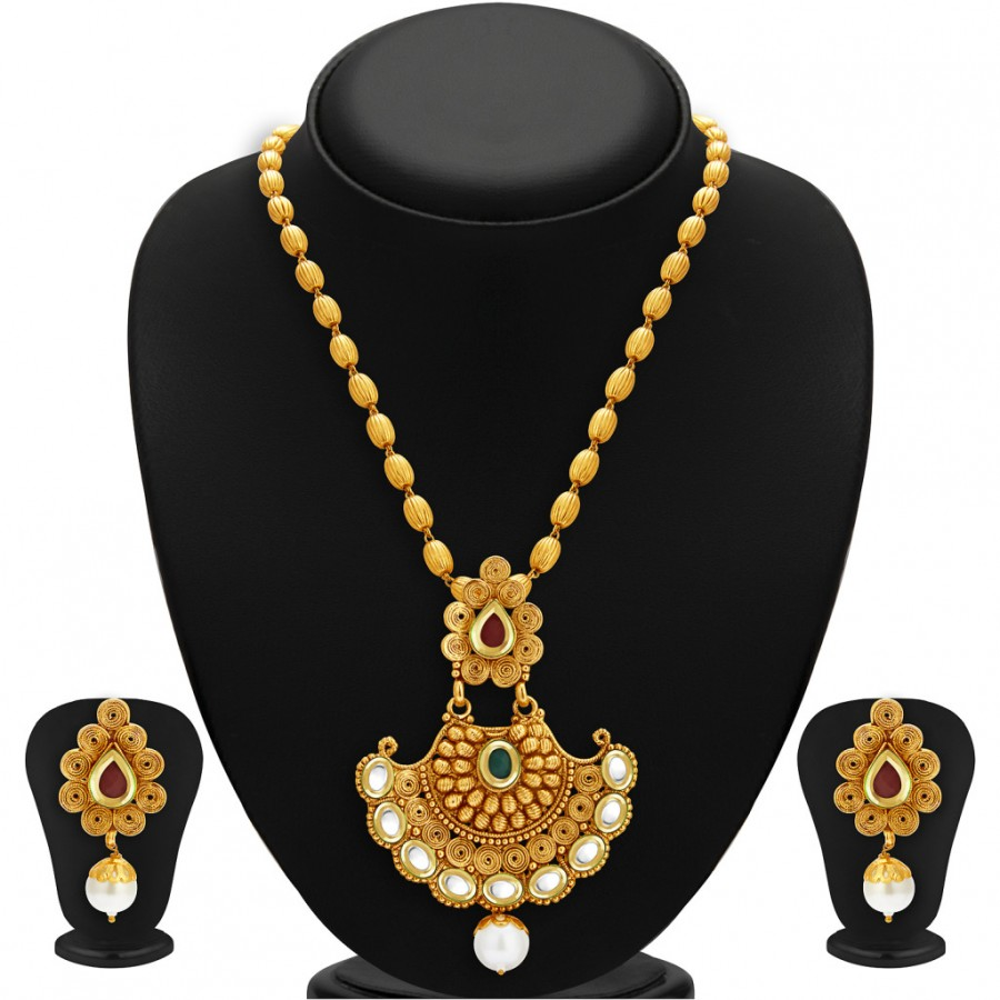 Buy Sukkhi Marvellous Gold Plated Kundan Necklace Set For Women Online