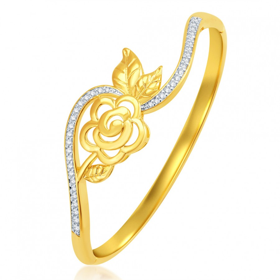 Buy Pissara Exquisite Gold Plated CZ Kada Online