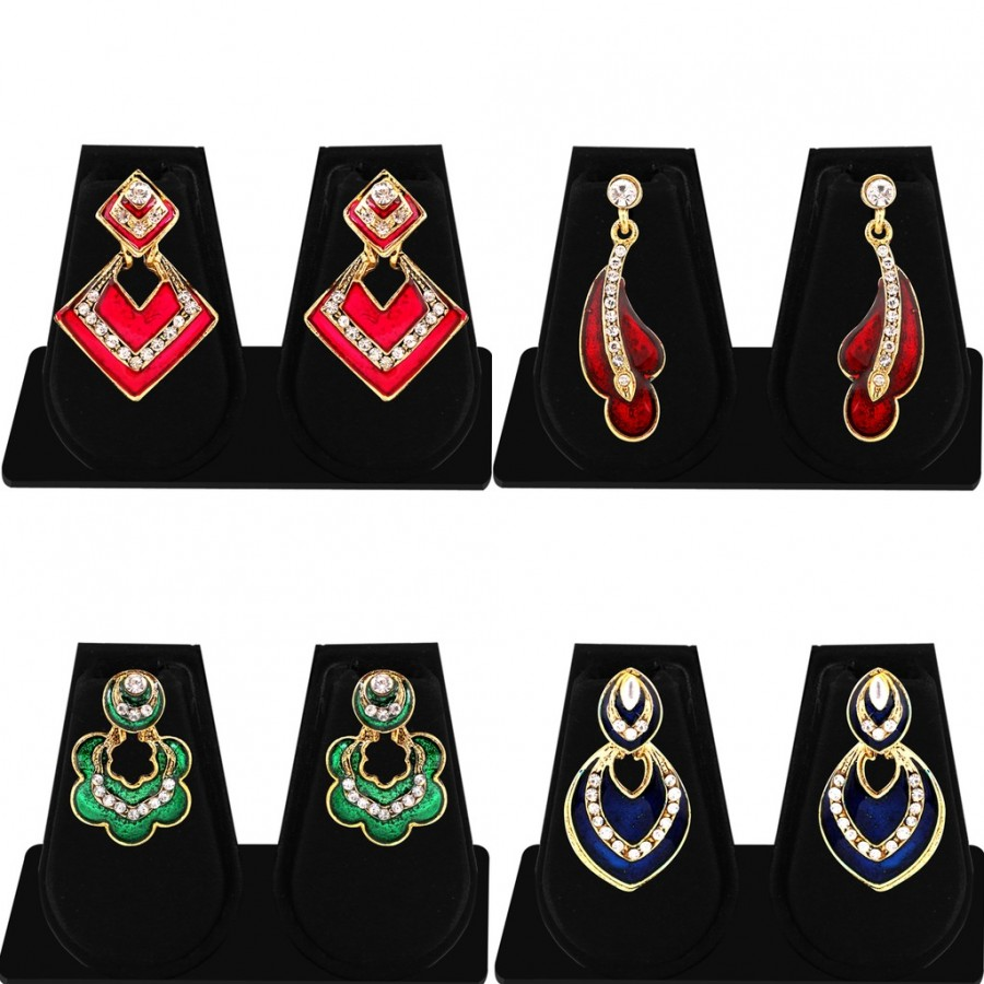 Buy Sukkhi Glorious Gold Plated AD Combo Earring For Women Online