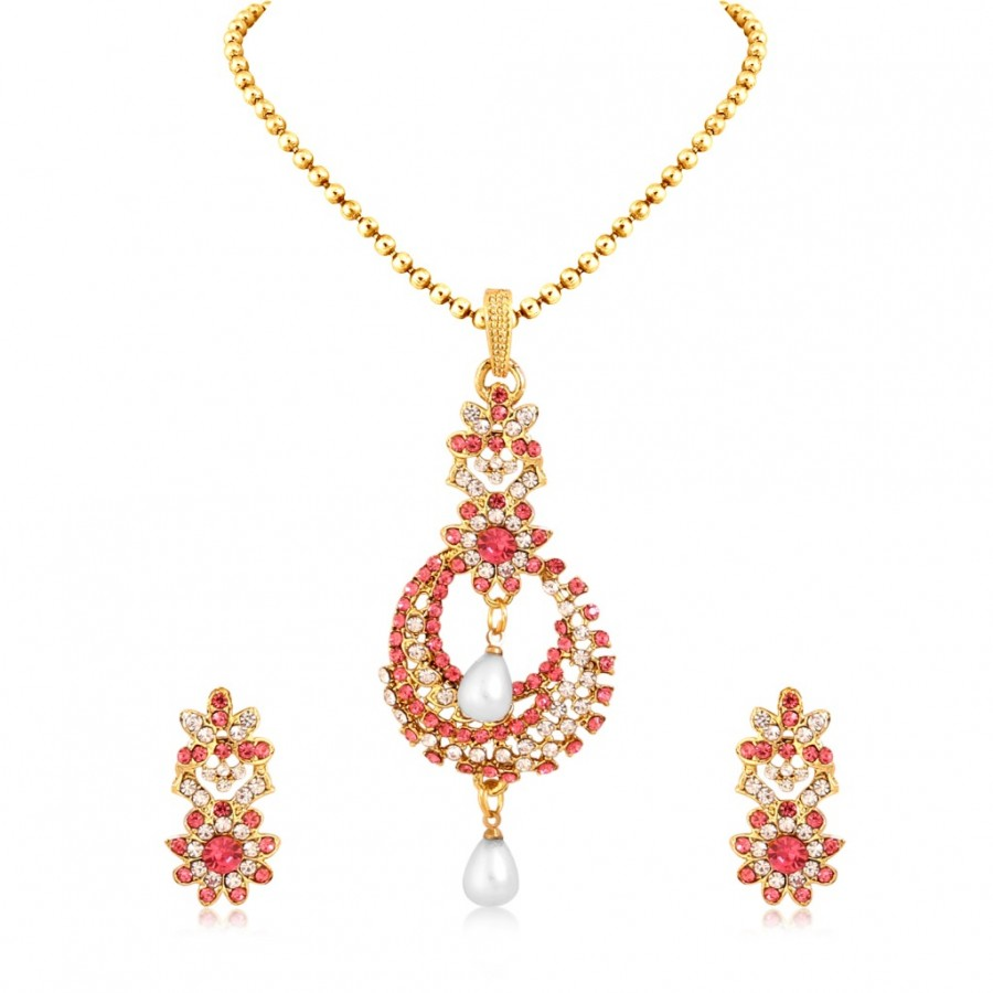 Buy Sukkhi Glorious Gold Plated Pendant Set For Women Online